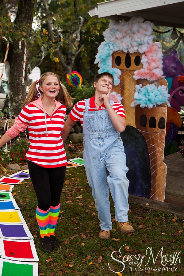 Candy Land Halloween theme - Strawberry Park Campground -  CT Photographer Sassy Mouth