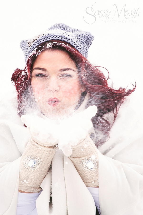 Plus Size Snow Portrait CT Photography Sassy Mouth Photography