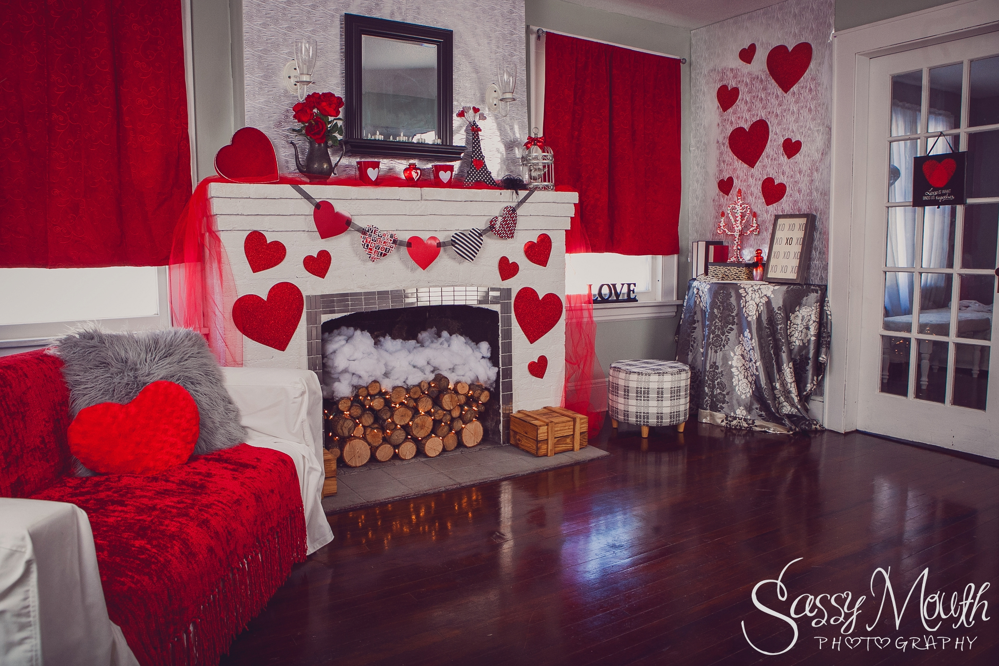 Valentines sweetheart living room decoration 2015 the - Valentine day room decoration ...
