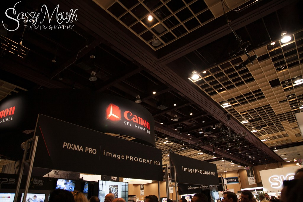Canon Booth Trade Show WPPI 2016 Viva Las Sassy Mouth Photography