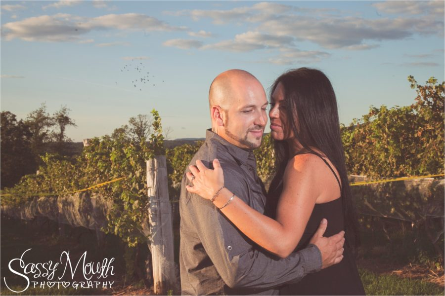 Connecticut Engagement Photographer at Gouveia Vineyards Sassy Mouth Photography