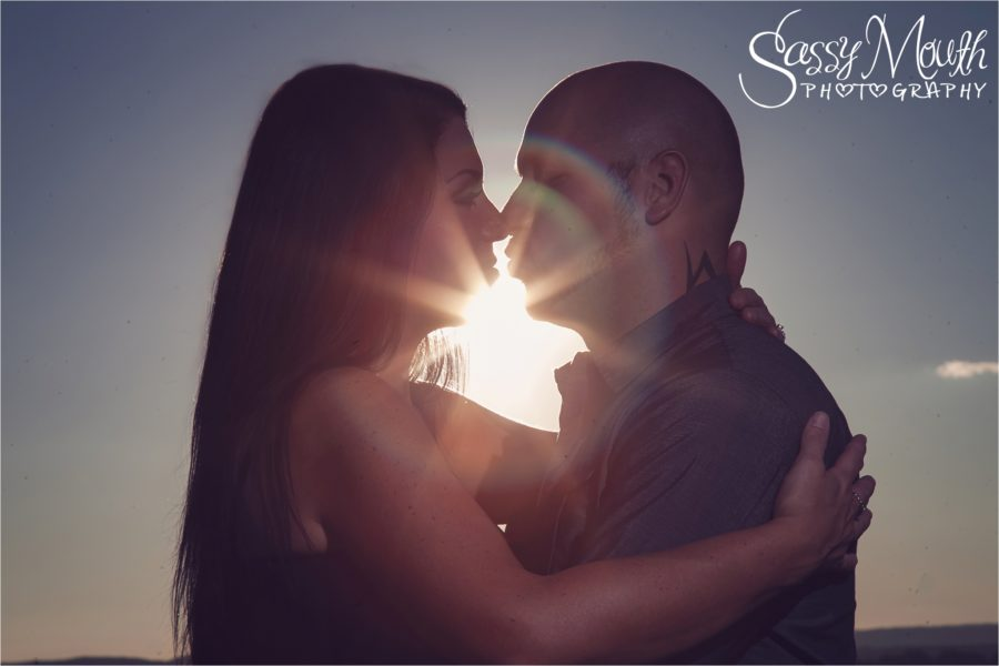 wallingford vineyard sunset engagement portrait photoshoot sassy mouth photo