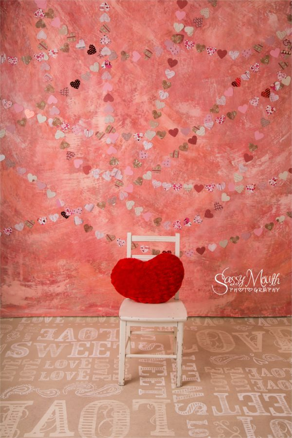 Custom Photo Set Backdrop for Valentine 2017 created by Artist Marisa Balletti-Lavoie Queen of Sass Photographer Sassy Mouth Photography