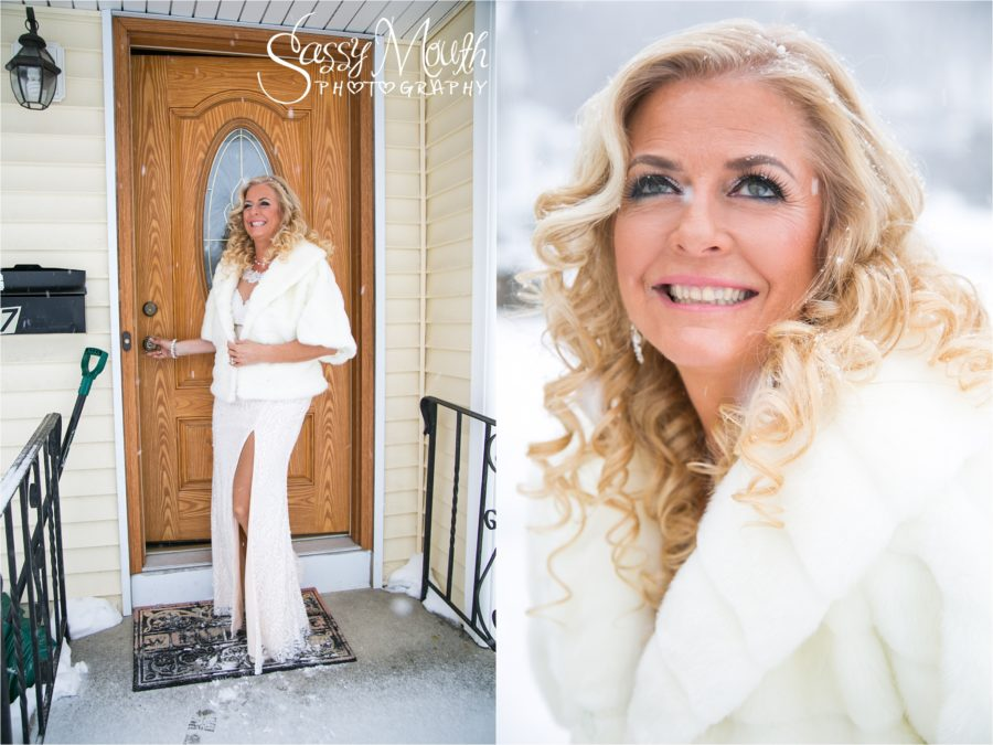 CT Wedding Photgrapher Sasssy Mouth Winter Snow Bride