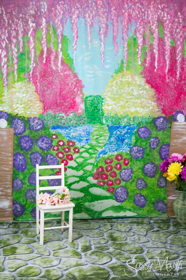 Hand Painted Portrait Backdrop by Marisa Balletti-Lavoie Sassy Mouth Photography