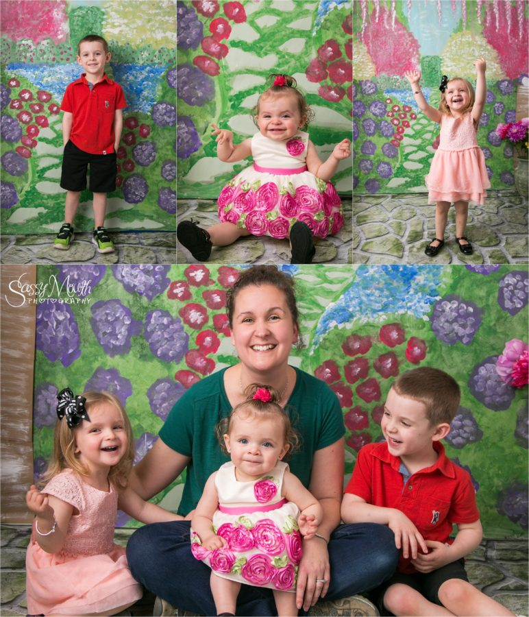 CT Portrait Studio Mini Sessions Flower Garden Mothers Day Sassy Mouth Photo
