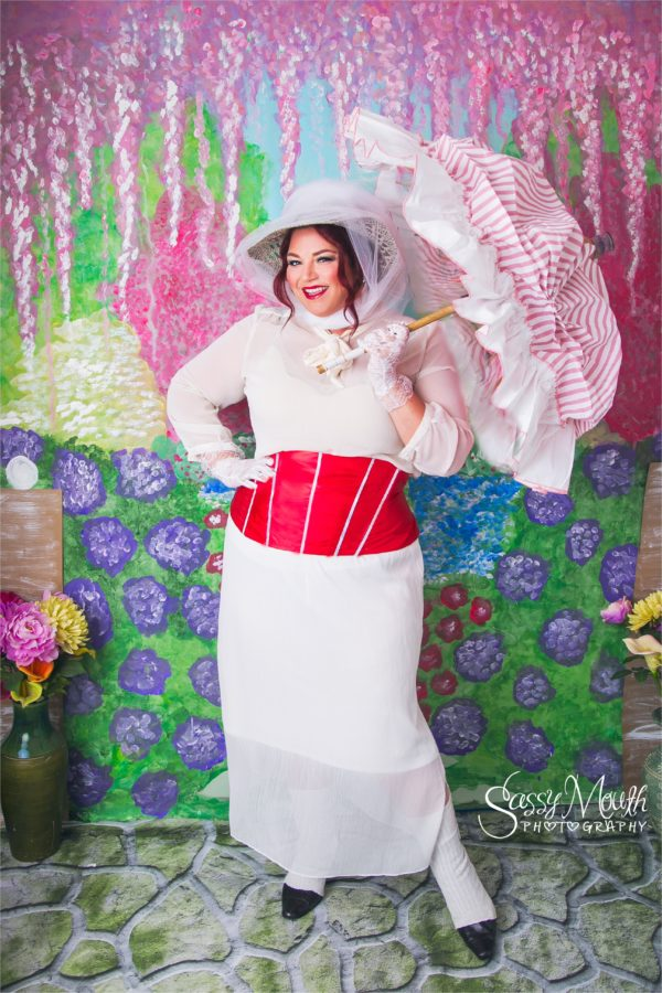Mary Poppins White Outfit Cosplay Costume Plus Size Marisa Balletti-Lavoie Queen of Sass