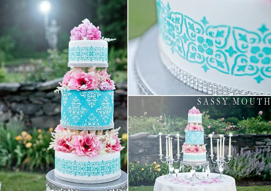 Свадебный торт с трафаретом