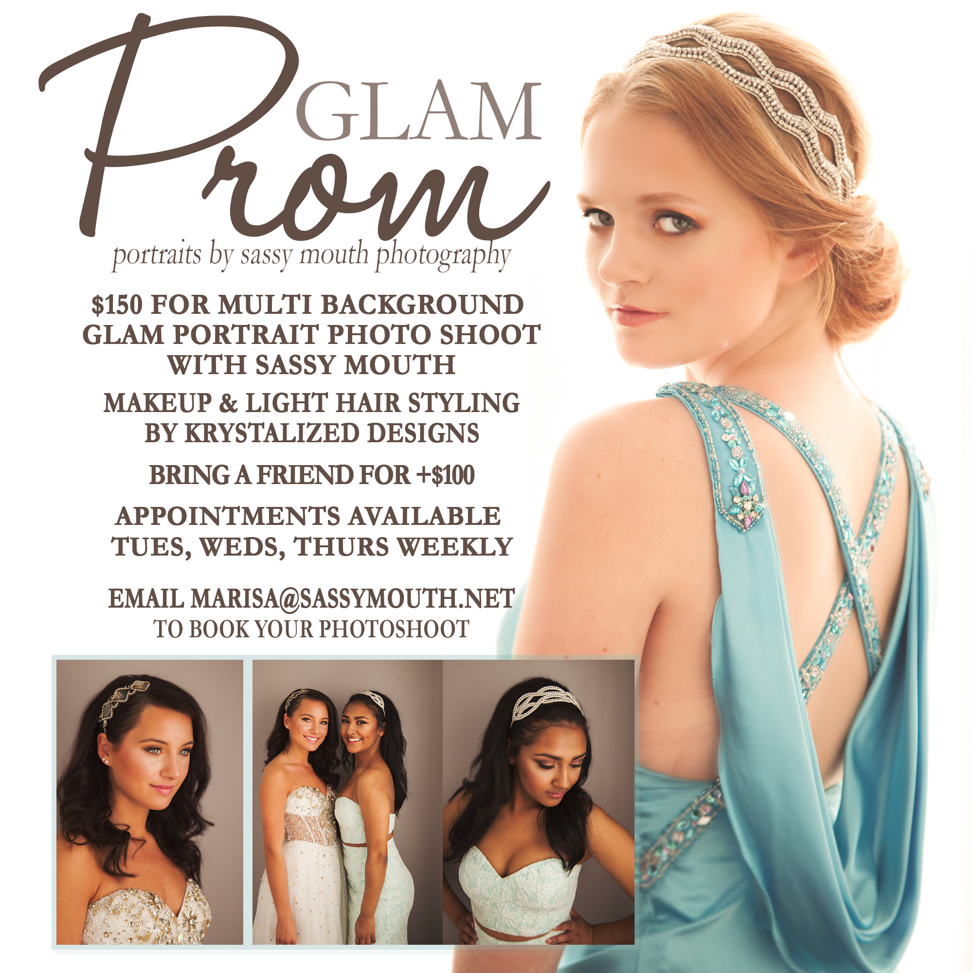 connecticut prom portraits {glam by sassy mouth glamour photo studio